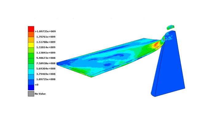 回転加工装置外装パネルの飛翔体衝突解析